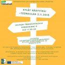 Kylät näkyviksi-teemailta Halikossa 2.11.2016