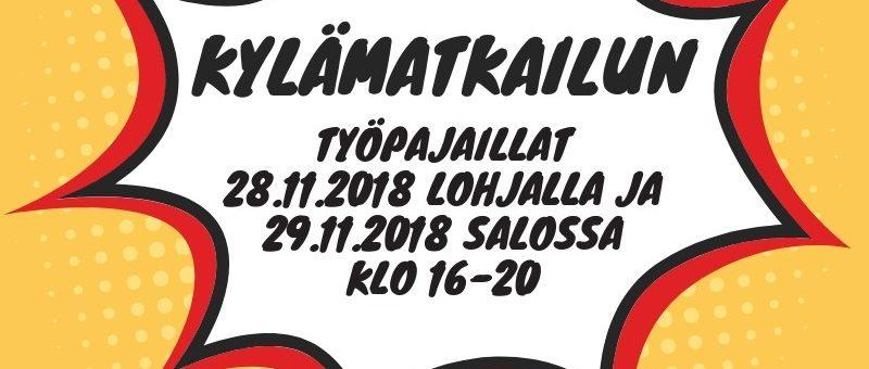 Kylämatkailun työpajaillat marraskuussa Lohjalla ja Salossa